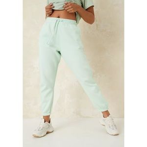 MISSGUIDED MINT GREEN JOGGERS